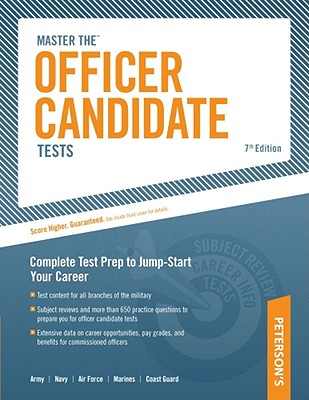 Peterson's Master the Officer Candidate Tests By Ostrow, Scott A.